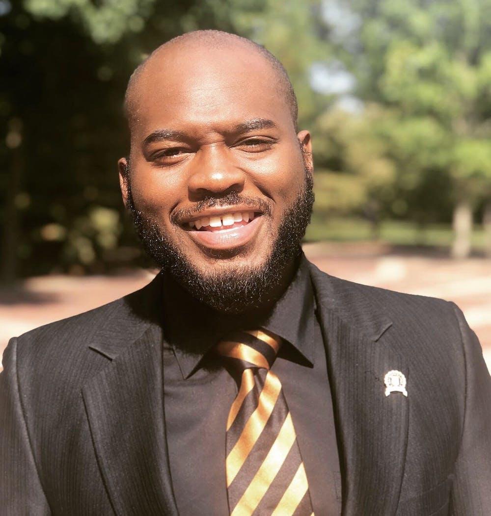 <p>A portrait of senior Reuben Davis. Davis serves in all leadership capacities for Alpha Phi Alpha Fraternity, Inc. <em>Photo courtesy of Reuben Davis</em></p>
