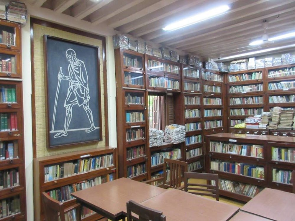 <p>School library in India. Courtesy of Ryan McEvoy.</p>