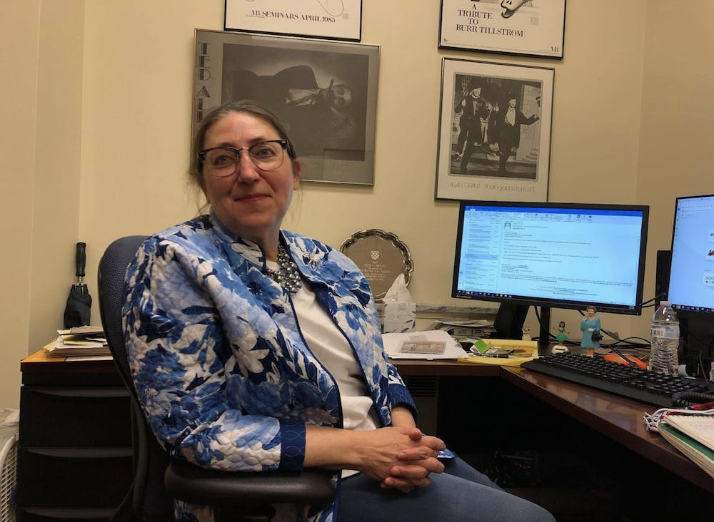 <p>Research and Digitization Associate Dywana Saunders sits in her office.&nbsp;</p>
