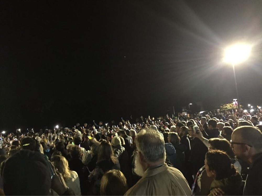 Hundreds of people gather at the Weinstein Jewish Community Center on Oct. 30 to honor the lives lost in the shooting in Pittsburgh.