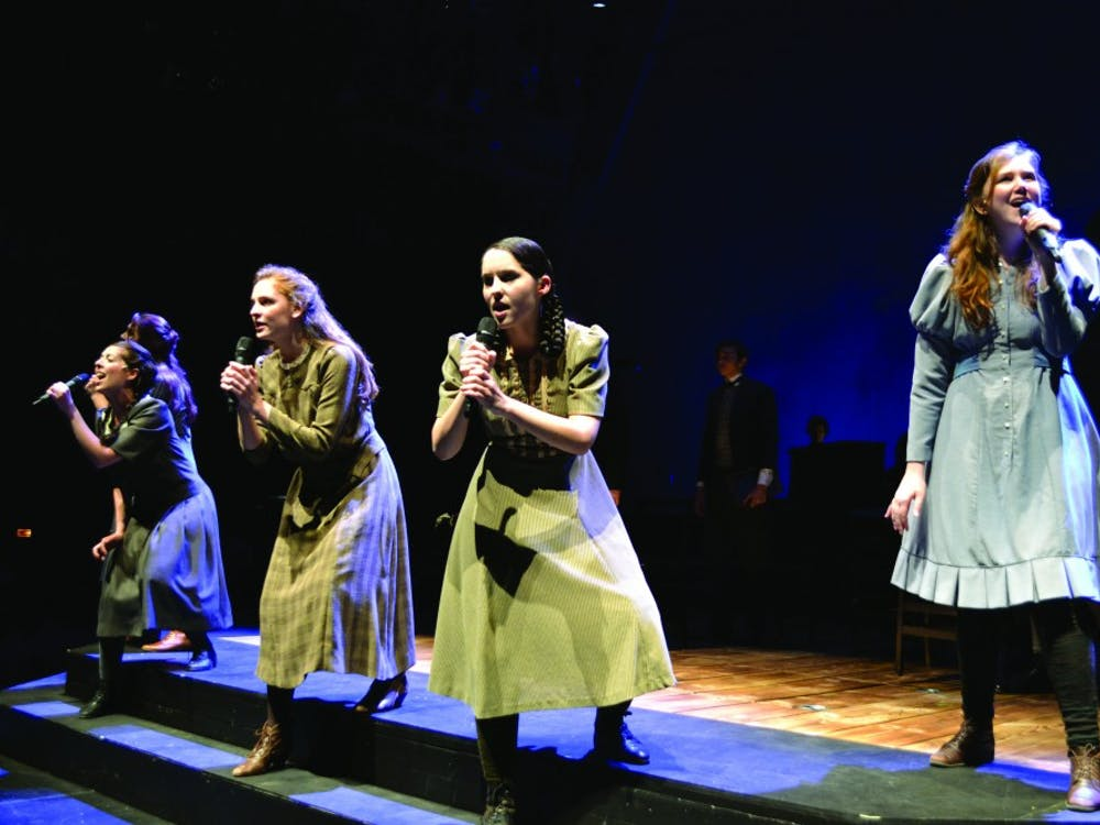 The Cast of 'Spring Awakening' rehearses before their opening night.