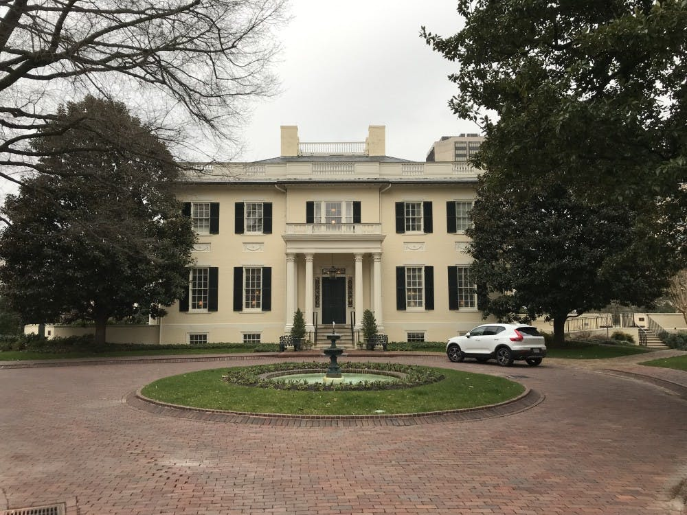 The Executive Mansion, the official residence of the Governor of the Commonwealth of Virginia.