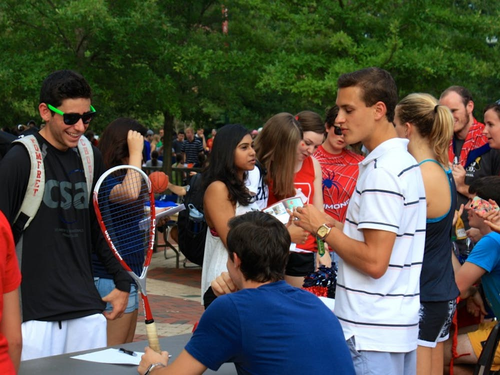 Representatives from dozens of campus clubs and activities table on the Forum.Photos by Rayna Mohrmann