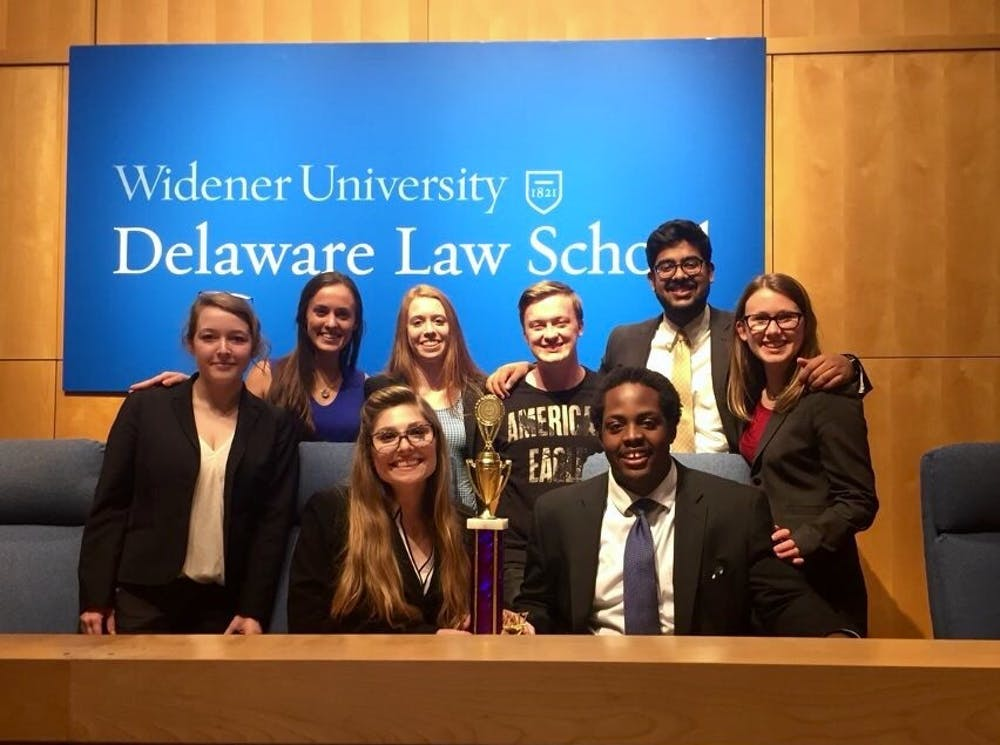<p>UR mock trial&nbsp;attended their first regional competition of the year on Feb. 18, and won first place out of the 24 teams at the event. Photo courtesy of University of Richmond mock trial.&nbsp;</p>