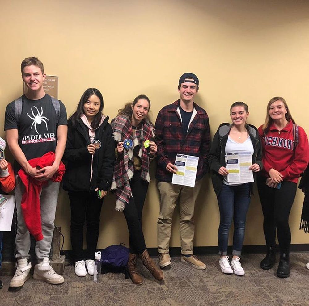 <p>Students who recently completed an Intro to Sustainability session and are on their way to becoming full URSA members.&nbsp;</p>