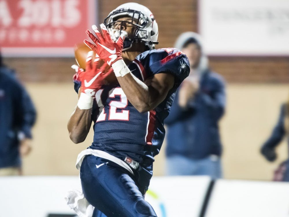 Senior receiver Brian Brown finished the regular season ranked fifth in the nation in receiving yards.