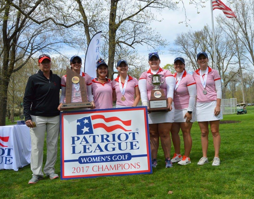 <p>UR women's golf has won back-to-back Patriot League titles.&nbsp;</p>