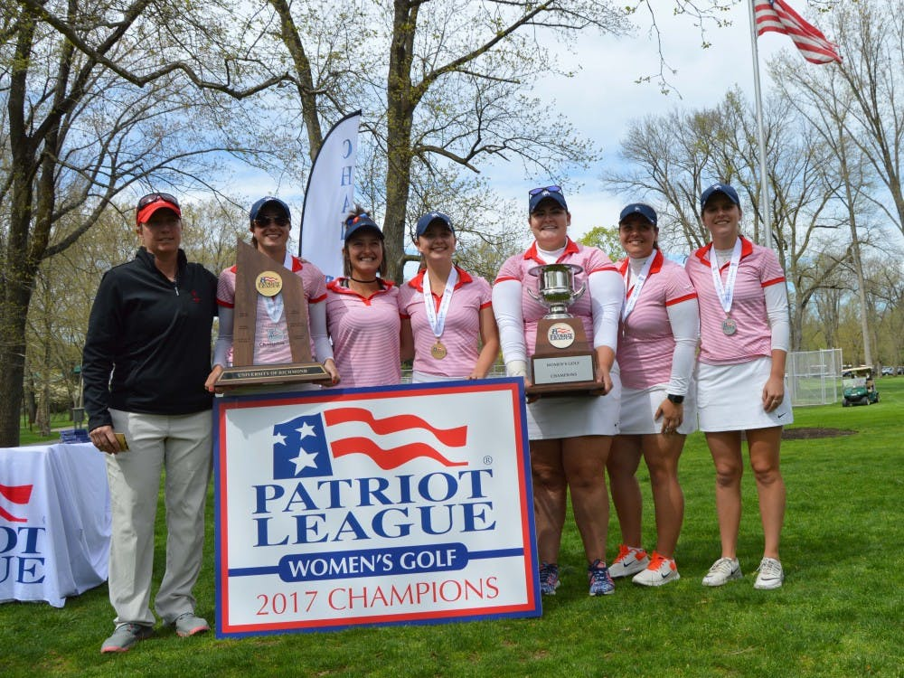 UR women's golf has won back-to-back Patriot League titles.