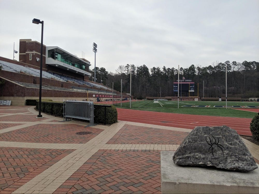 <p>The E. Claiborne Robins stadium is where Richmond lacrosse plays their home games. The Spiders will play at the Robins stadium next on April 20, where they will play Mercer University.</p>