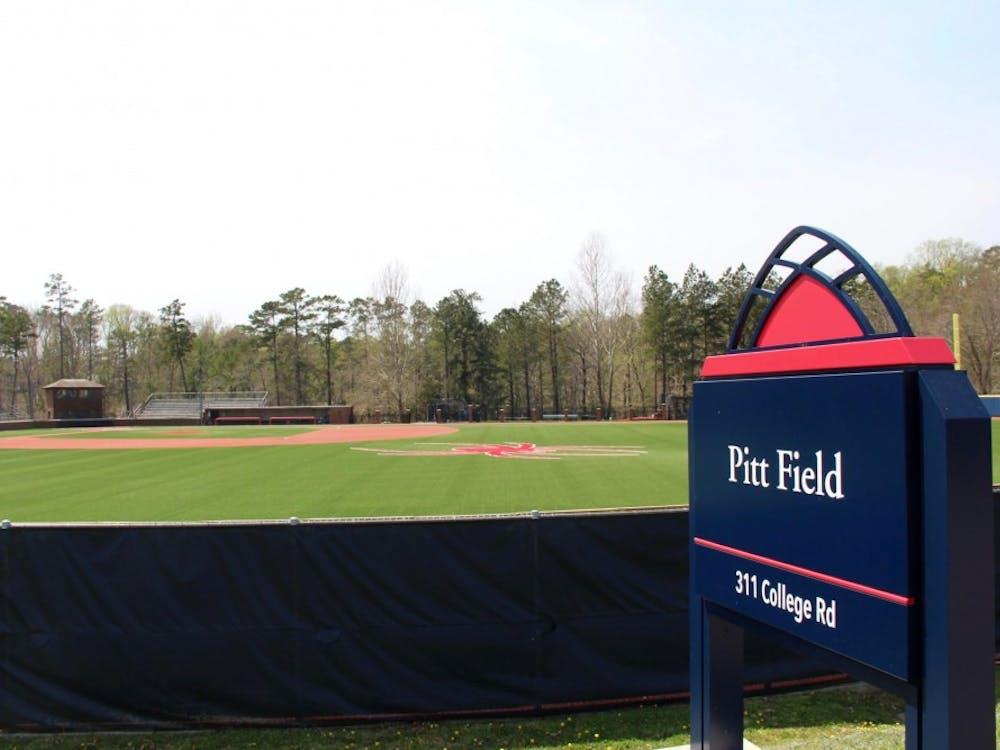 Pitt Field, where UR's club baseball team defeated VCU on Friday.