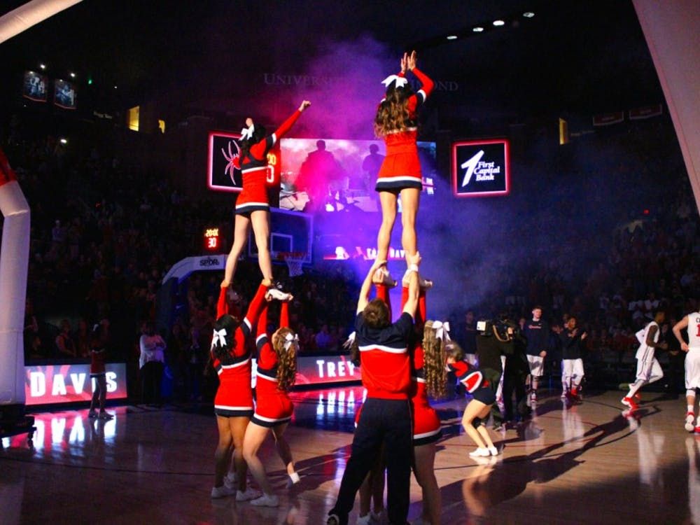 The Richmond Spiders Men's Basketball team takes on James Madison University in the opening game of the season. Photos by Rayna Mohrmann.