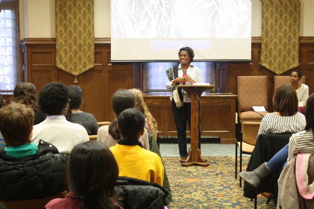 <p>Marion Bethel discusses her documentary in the Brown Alley Room.</p>