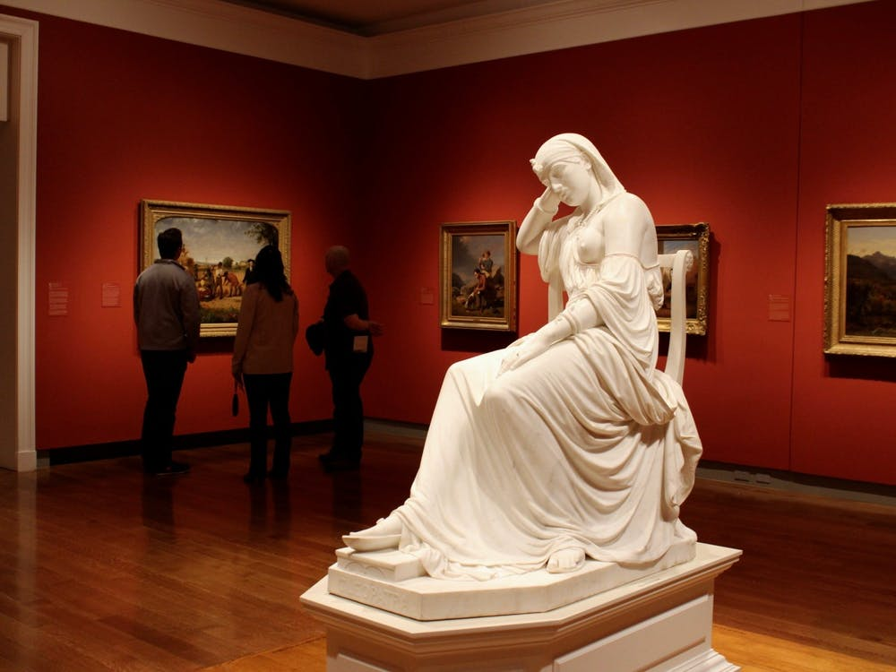 A statue of Cleopatra is located in the free section of the Virginia Museum of Fine Arts.