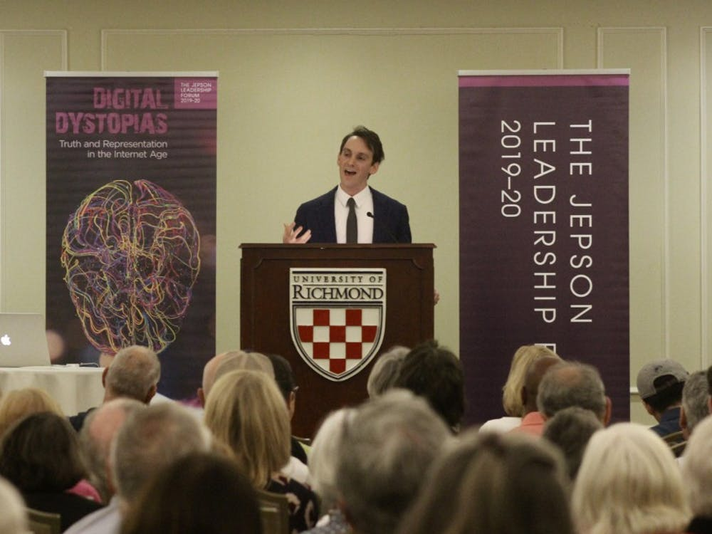 Jepson Leadership Forum speaker Derek Thompson discusses the implications of advertising in news and media in the Internet age.