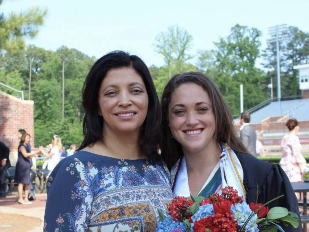 Emily Landon (right) is a 2018 graduate of UR. Photo courtesy of Emily Landon