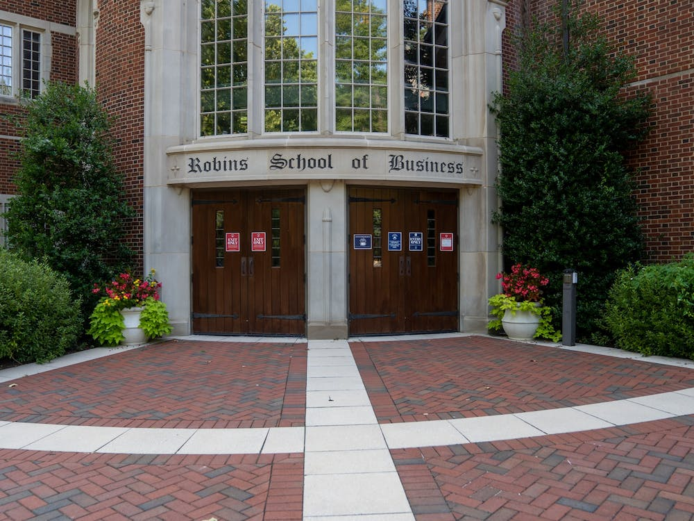 The entrance to the Robins School of business.