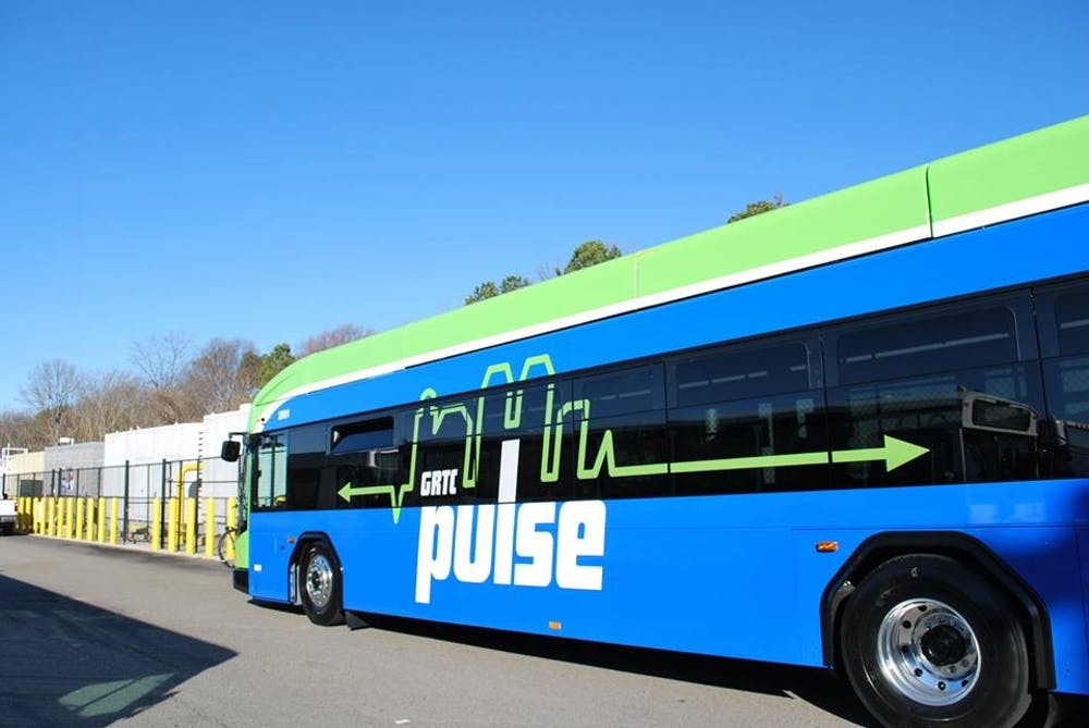 <p>On June 24, the Greater Richmond Transit Company unveiled the GRTC Pulse, a 7.6 mile-long bus rapid transit system. <em>Photo courtesy of the Greater Richmond Transportation Company.&nbsp;</em></p>