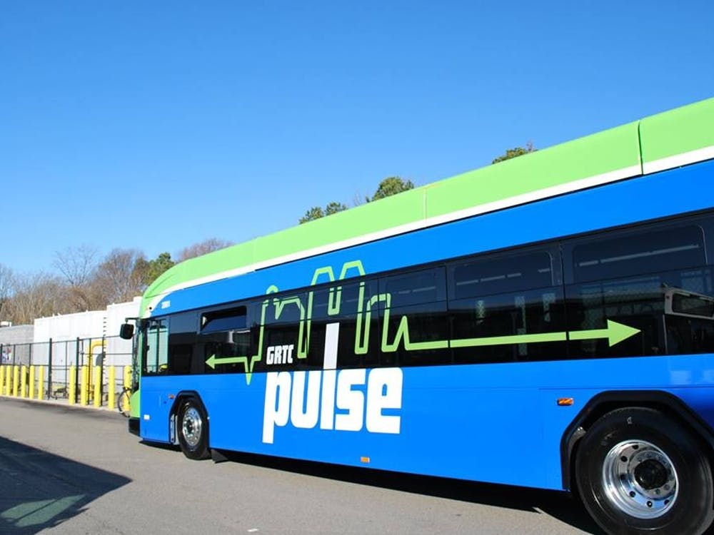 On June 24, the Greater Richmond Transit Company unveiled the GRTC Pulse, a 7.6 mile-long bus rapid transit system. Photo courtesy of the Greater Richmond Transportation Company.