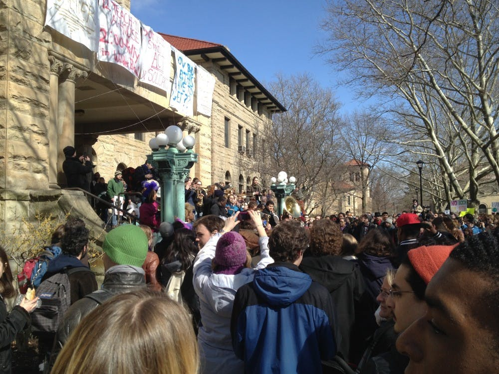 <p>A band plays to resolve communal issues at Oberlin College.</p><p>Source: Wikimedia Commons</p>
