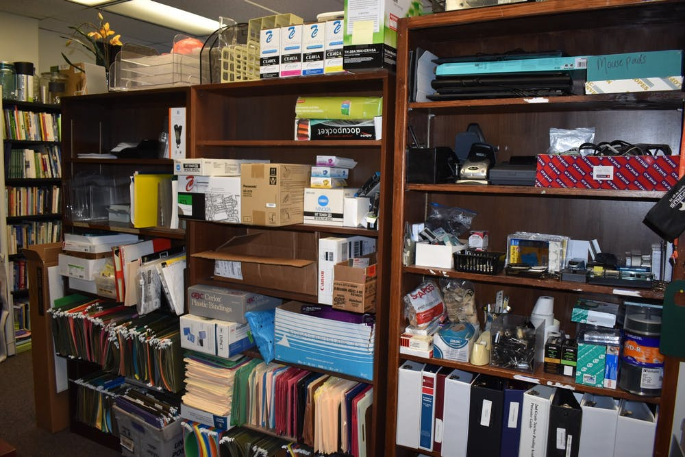 <p>The Office of Sustainability stores office supplies for the UROSE program.</p>
