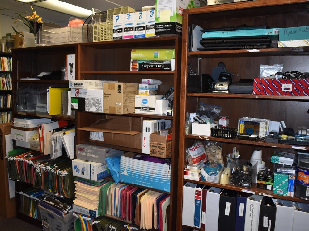 The Office of Sustainability stores office supplies for the UROSE program.