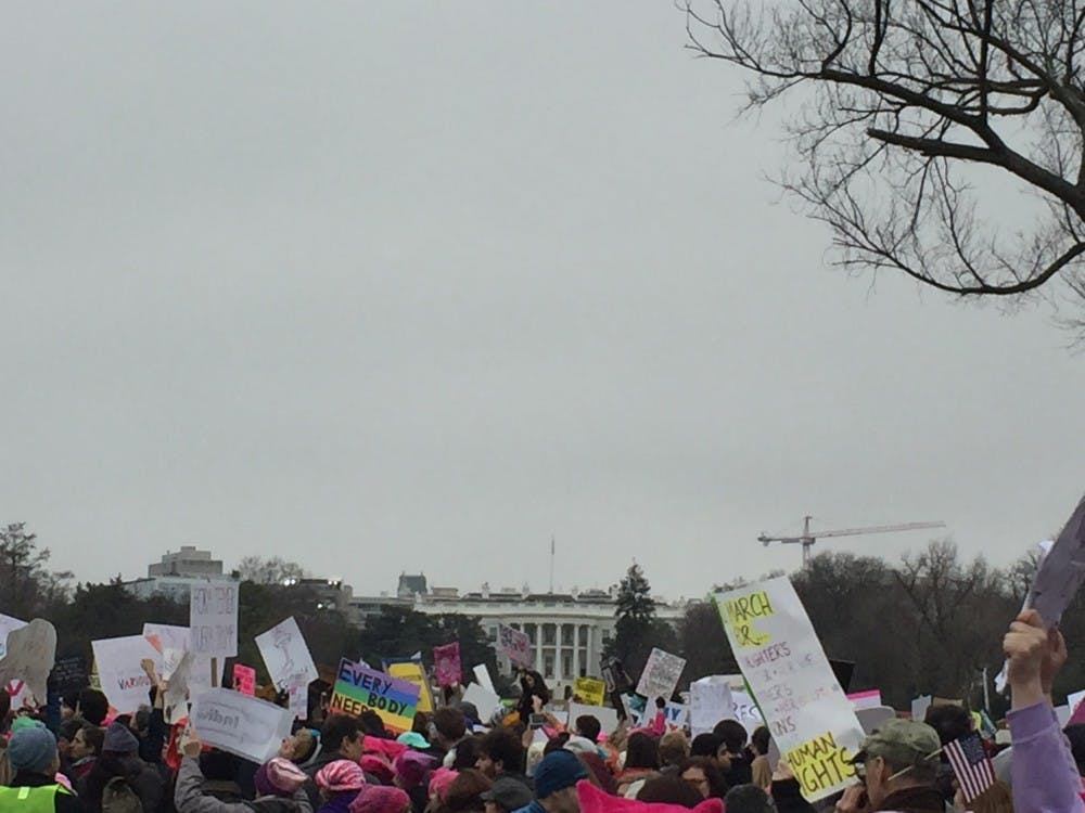 The march ended in front of the White House Jan. 21.