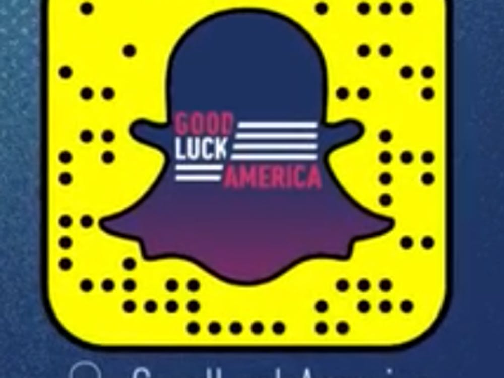 """The first episode of Snapchat's """"Good Luck America"""" can be found by scanning this code. Photo courtesy of Snapchat."""