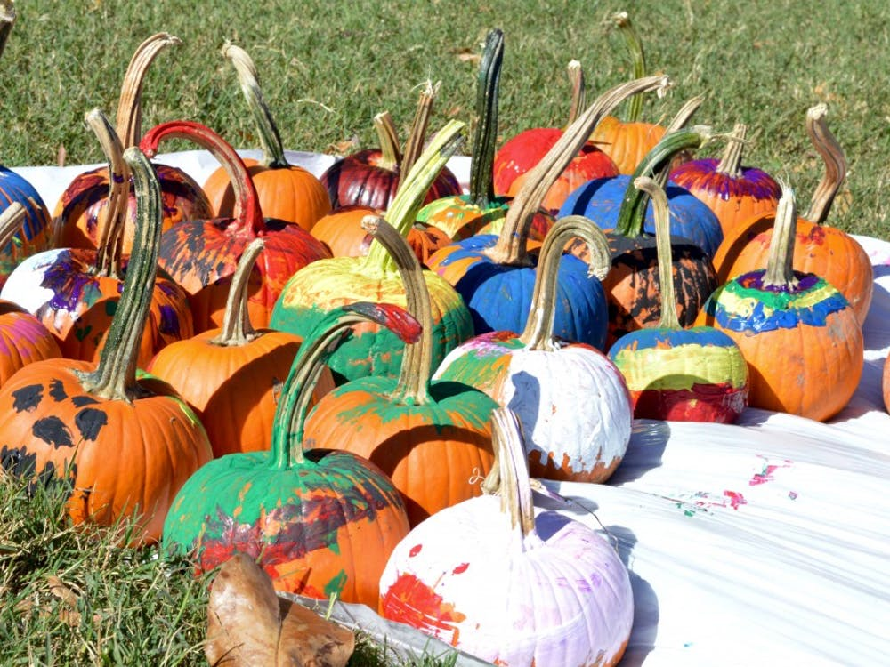 Pumpkin painting was one of the eventsRichmond community members participated in during the annual Trick or Treat Street (TOTS) fairon University of Richmond's Westhampton Green Sunday, Oct. 23.
