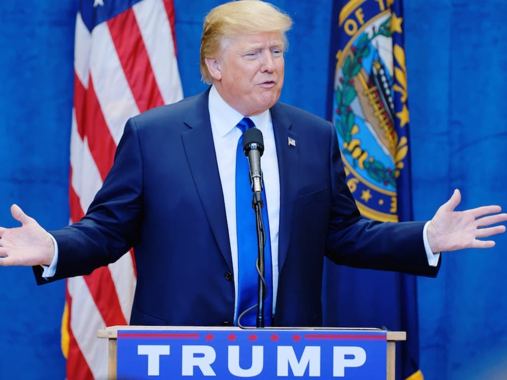 Donald Trump speaking in New Hampshire in August  Michael Vadon/Wikicommons