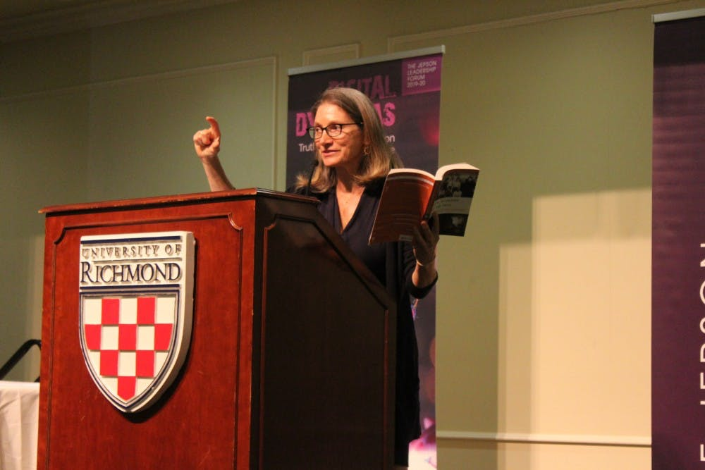 <p>Journalist and author Katie Hafner speaks about the origins of the Internet as part of the Jepson Leadership Forum.</p>