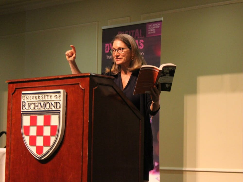Journalist and author Katie Hafner speaks about the origins of the Internet as part of the Jepson Leadership Forum.