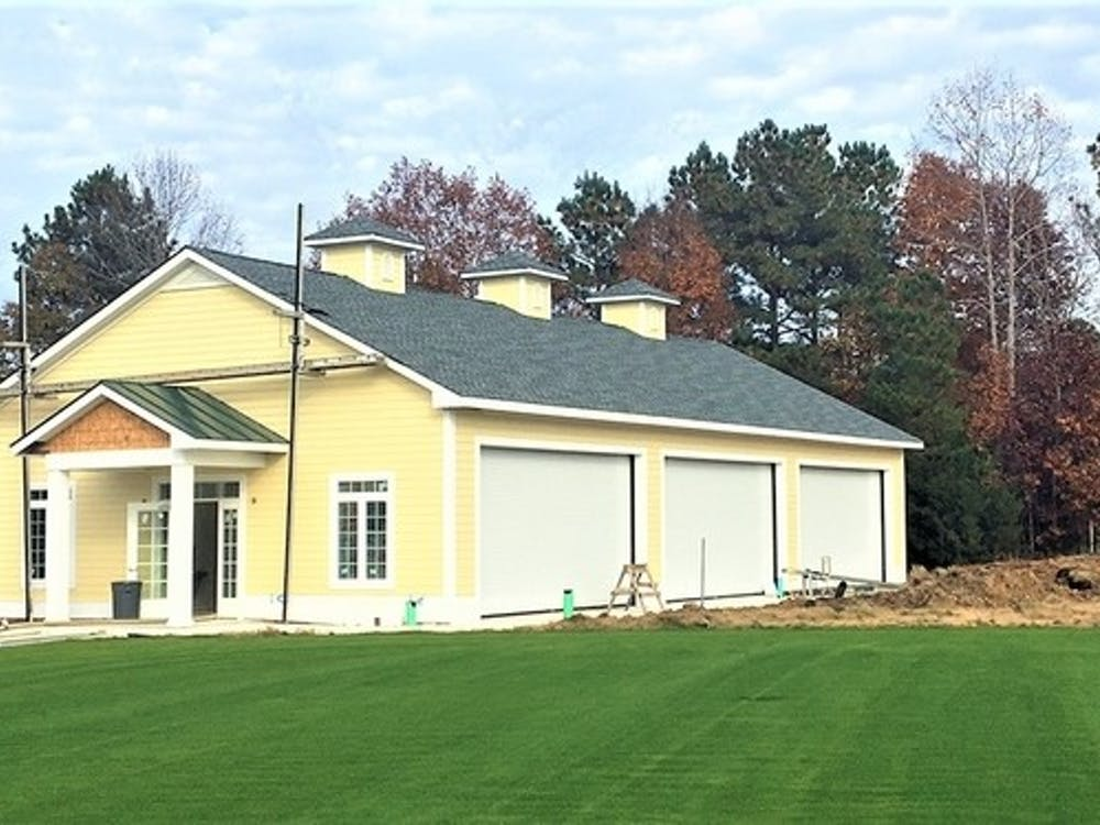 The new indoor golf facility at Independence Golf Club. Photo courtesy of Michael Schwartz of RichmondBizSense.com.
