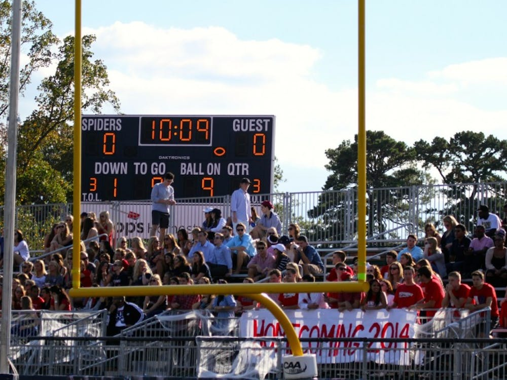 Student attendance was good for the first half of Saturday's Homecoming football game but dropped off after the first half.