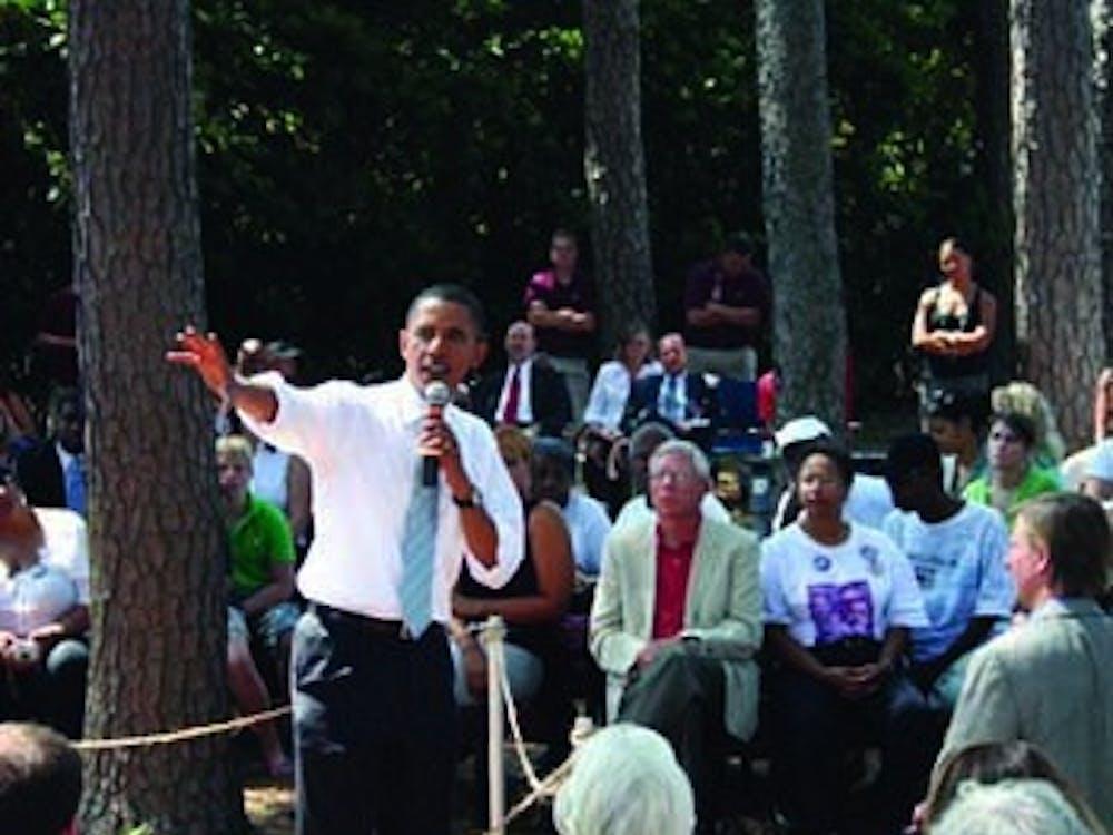 Sen. Obama begins his speech.