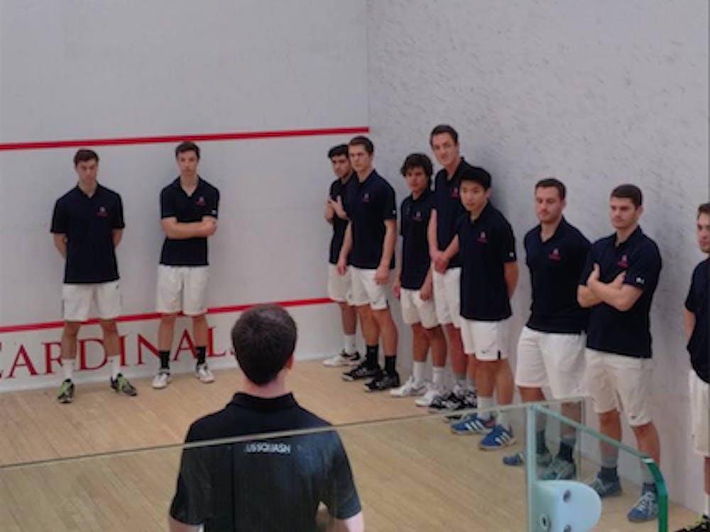 The University of Richmond club squash team