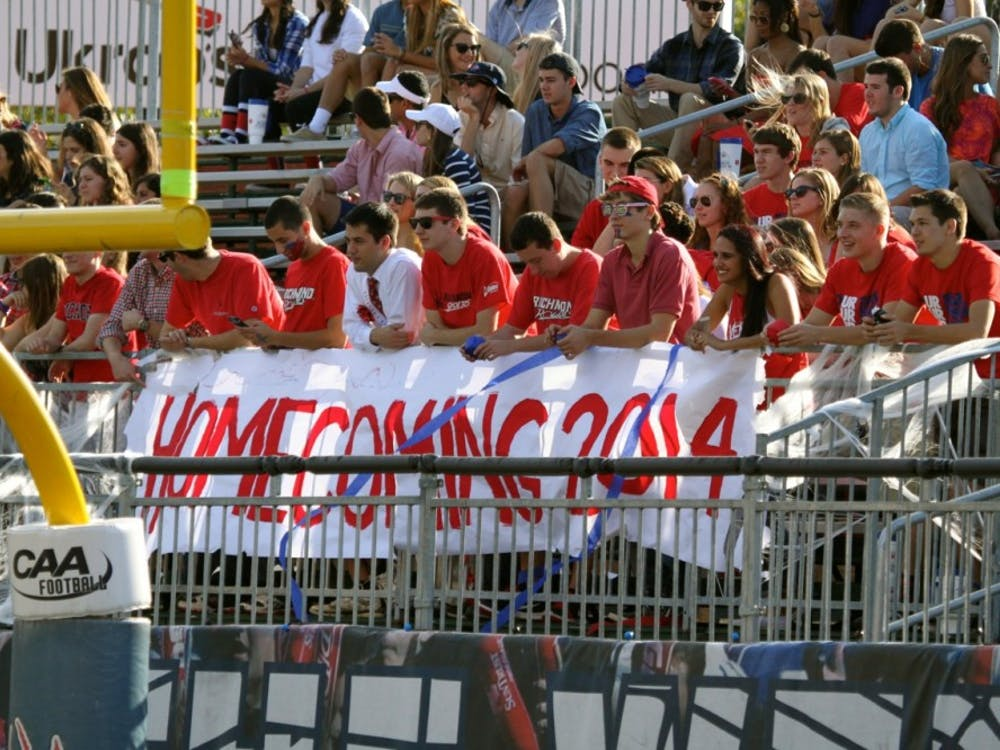 The Richmond Spiders defeated the Rhode Island Rams during UR's Homecoming football game. Photos by Rayna Mohrmann