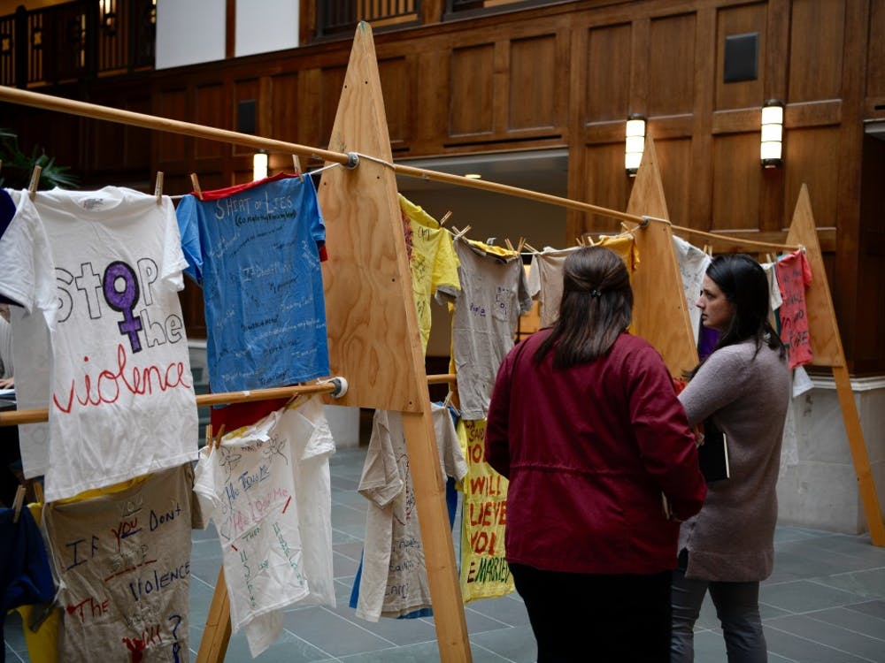 The Clothesline Project was featured in the Gottwald Center for the Sciences atrium on Tuesday, April 2. The project is meant to be a visual reminder of the sexual violence, incest and domestic violence that exists in the community. It also gives a voice to survivors and sparks discussion about these issues on UR's campus.