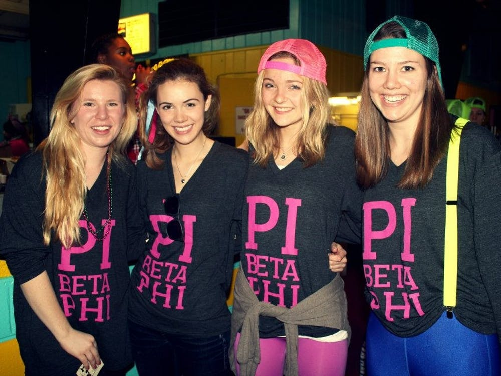 Current USAID appointee Merritt Corrigan, second from left, seen with other members of the Virginia Eta chapter of Pi Beta Phi in 2013 during her time at UR.
