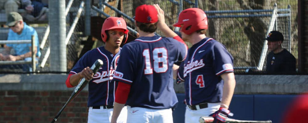 <p>Richmond's baseball team lost two of three games in the series against Fordham.&nbsp;</p>