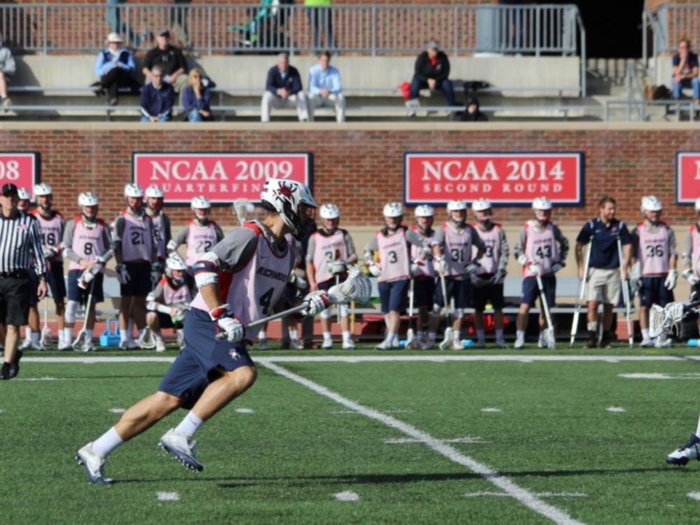 Men's lacrosse prepares for their season with a scrimmage against the United States Naval Academy.