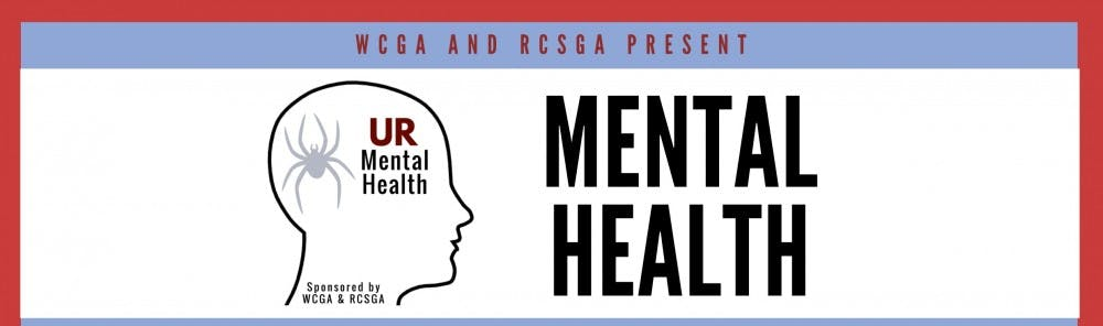 <p>WCGA and RCSGA create an informative flyer regarding mental health on campus. <em>Image courtesy of Rob Ryan</em></p>