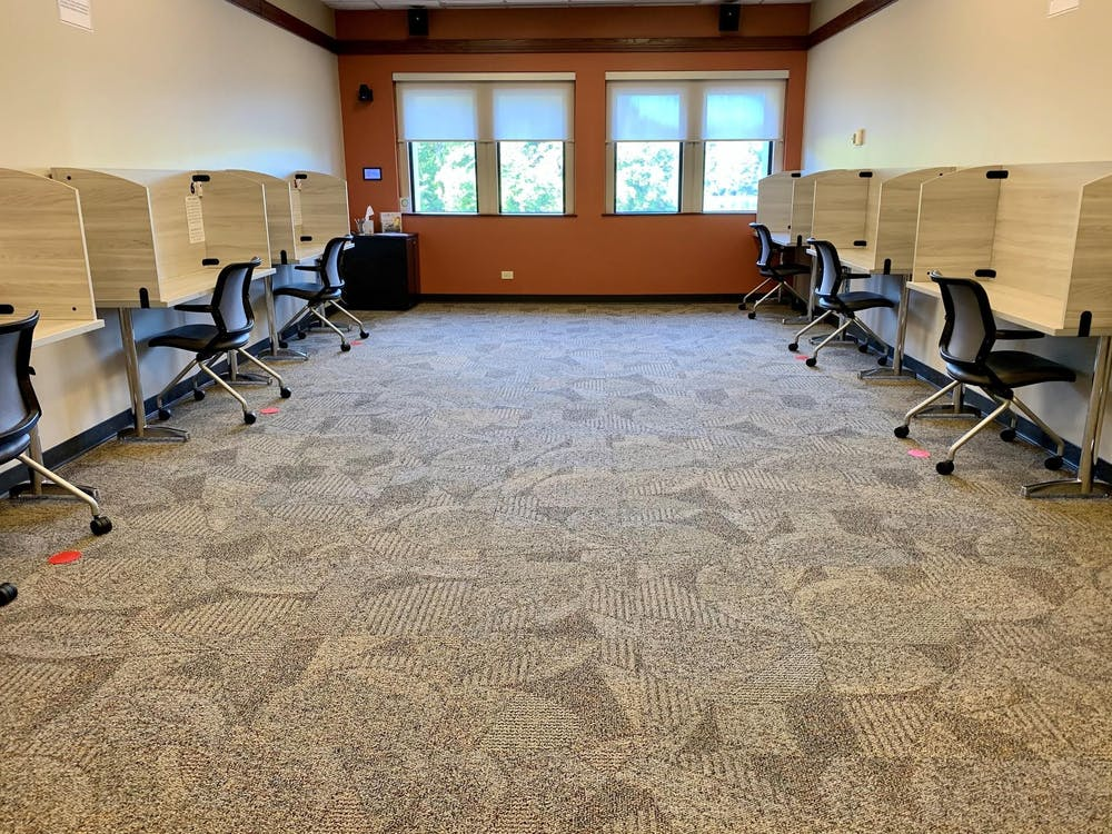 <p>The new testing center on the top floor of Tyler Haynes Commons allows students with academic disabilities a separate location to take tests and exams. <em>Courtesy of Julia Kelly</em></p>