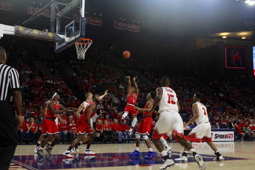 <p>Jones shoots a jumper during Richmond's win over VMI Friday night.&nbsp;</p>