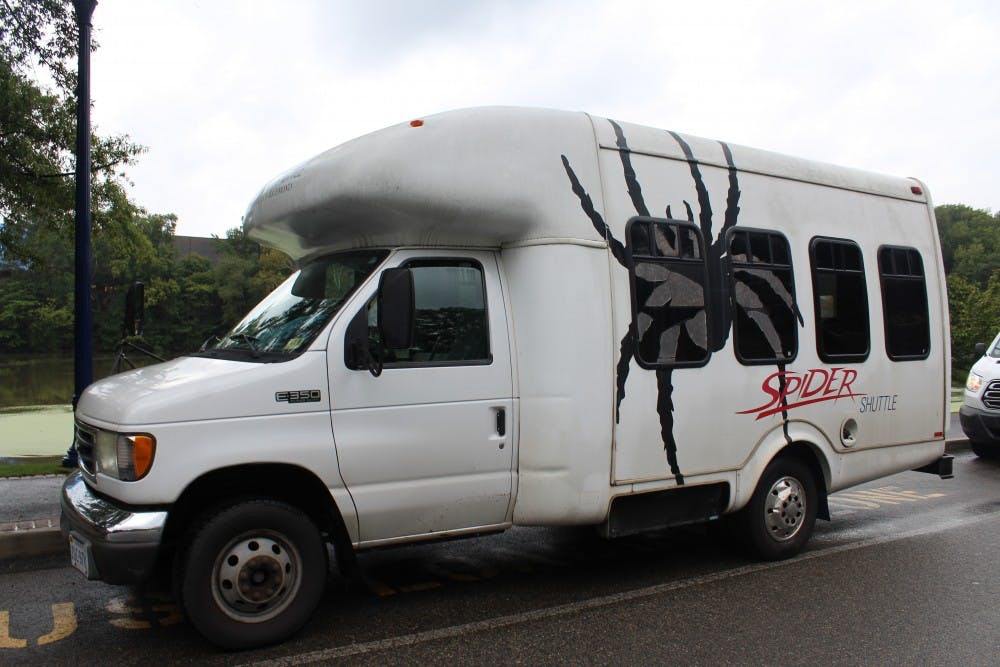 <p>One of the&nbsp;shuttles managed by UR Transportation.&nbsp;</p>