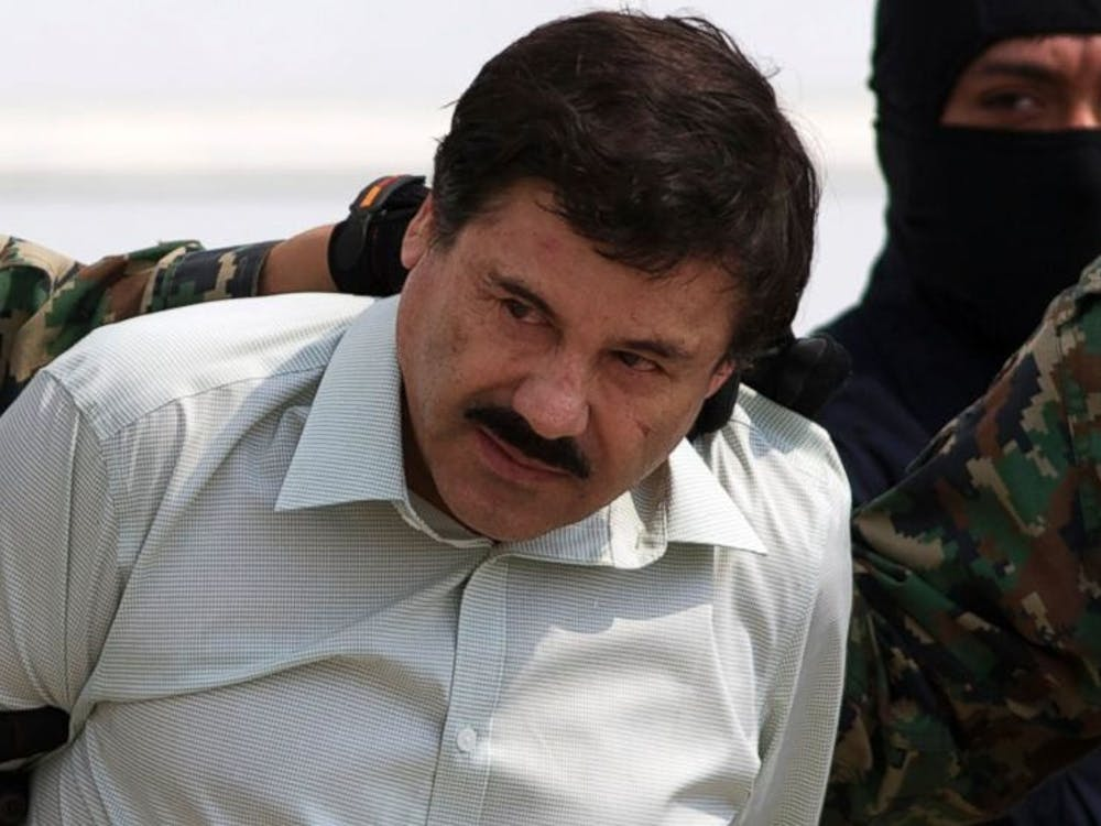 El Chapo, shown here after being captured in 2014, is the leader of one of Mexico's most dangerous drug cartels |Courtesy of Day Donaldson/Flickr