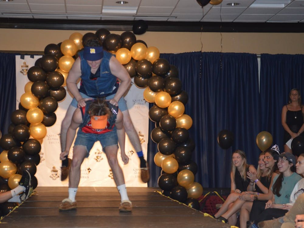 On Tuesday, Kappa Alpha Theta hosted KATwalk, its annual philanthropy that supports the sorority's national philanthropy, Court Appointed Special Advocates, which aids volunteers in their help for neglected or abused children that go through the court system. KATwalk is a runway event where local stores donate clothes for the models to wear and sell. During the second part of the night, various organizations get up on stage to give their take of what a runway appearance should look like. The teams are judged by Richmond faculty. Gallery by Moira Lachance.