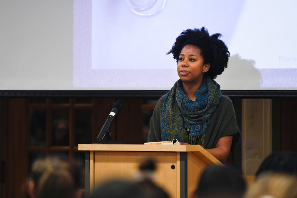 <p>Poet Chet'la Sebree, '10, gives a talk on Tuesday, November 19, as part of this year's WILL*/WGSS speaker series.</p>