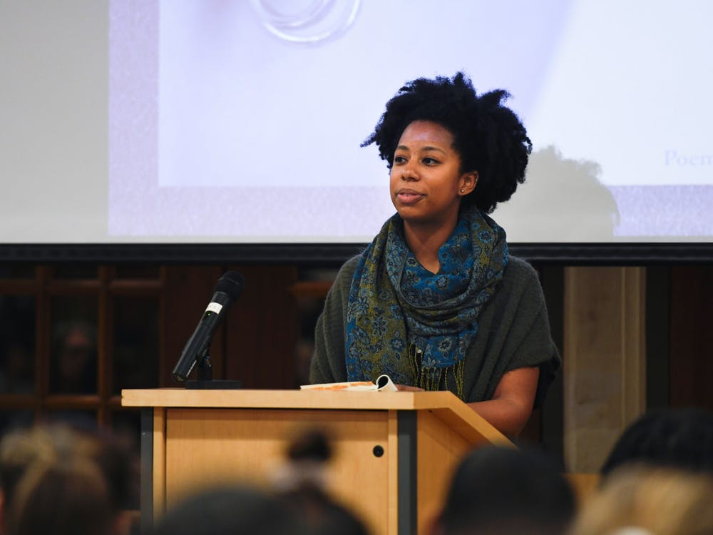 Poet Chet'la Sebree, '10, gives a talk on Tuesday, November 19, as part of this year's WILL*/WGSS speaker series.