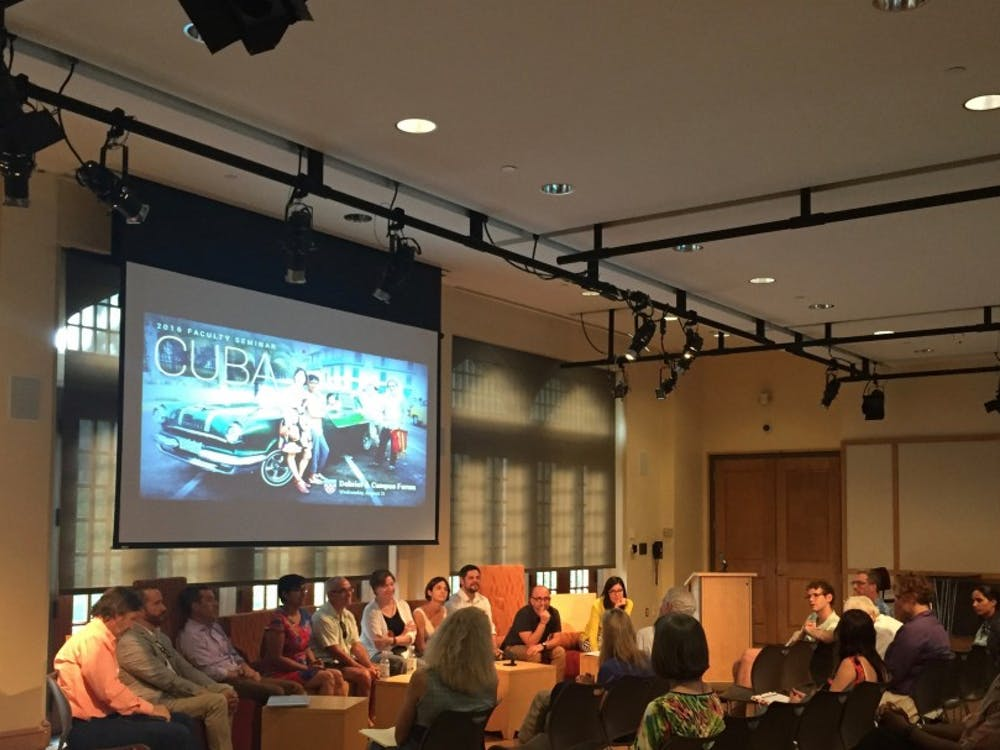 The faculty members who attended the Cuba seminar discussed their experiences at a debrief and forum Wednesday.