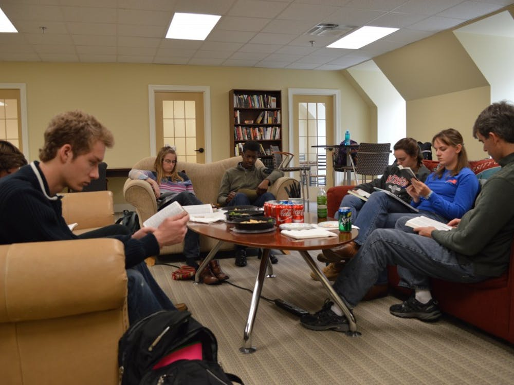 Students participate in a group discussion at the Richmond Center for Christian Study. Photo courtesy of the University of Richmond.
